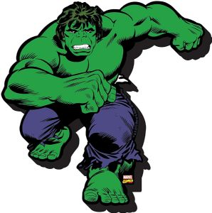 Incredible Hulk chunky thick fridge magnet    (nm)